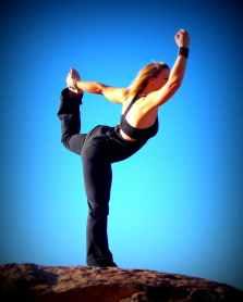 Yoga pose showing good balance and posture